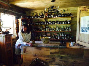 Image 2 me in my herb barn